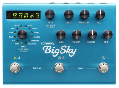 Strymon Big Sky reverb guitar effect