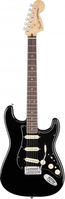 Fender Deluxe Stratocaster RW Black electric guitar