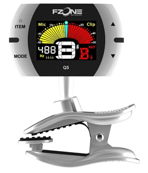 Fzone FT Q5 chromatic tuner with a rack, black