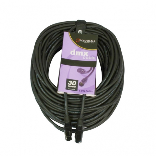 Accu Cable 5 pin DMX cable, 30m