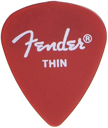 Fender 351 California Red Thin guitar pick