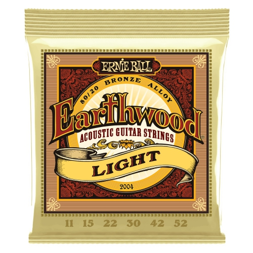 ErnieBall 2004 Earthwood Light acoustic guitar strings 11-52