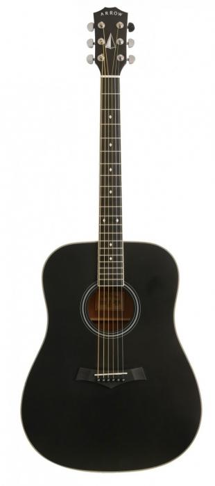 Arrow Bronze BLK Black acoustic guitar