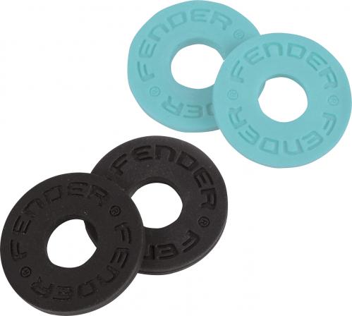 Fender Logo Daphne Blue & Black Strap Button Blocks