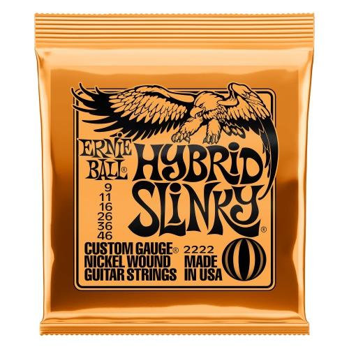 Ernie Ball 2222 Hybrid Slinky Nickel Wound Electric Guitar Strings (9-46)