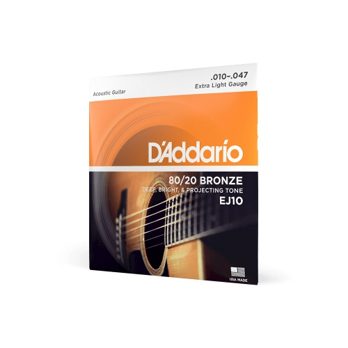 D′Addario EJ-10 acoustic guitar strings 10-47