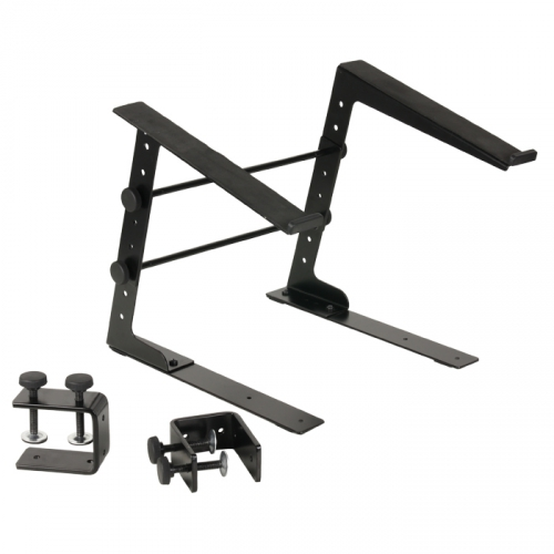 Adam Hall SLT001 Laptop Stand with Clamp Black