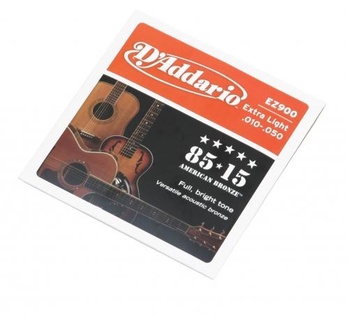 D′Addario EZ900 acoustic guitar strings 10-50