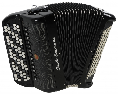 Paolo Soprani Internazionale 120C 120C 46(87)/4/13+M 120/5/7 Piccolo Cassotto button accordion (black)