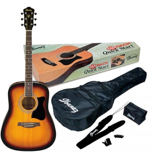 Ibanez V50NJP VS acoustic guitar with gig bag