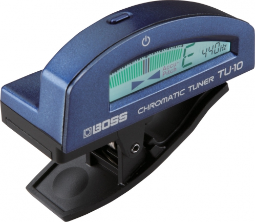 BOSS TU-10 BL Clip-On Chromatic Tuner (blue)