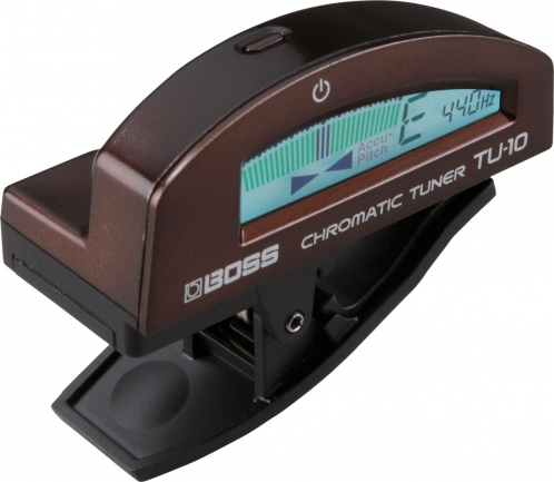 BOSS TU-10 BR Clip-On Chromatic Tuner (brown)