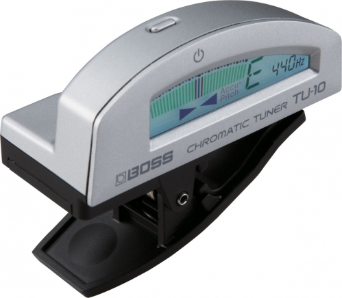 BOSS TU-10 SL Clip-On Chromatic Tuner (silver)