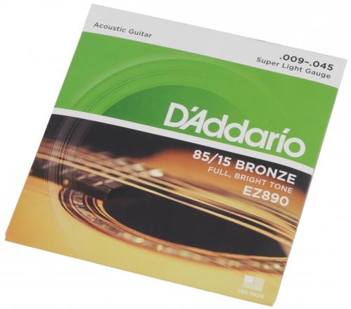 D′Addario EZ 890 acoustic guitar strings 9-45