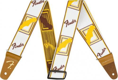 Fender Monogrammed white/brown/yellow guitar strap