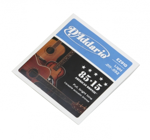 D′Addario EZ 910 acoustic guitar strings 11-52
