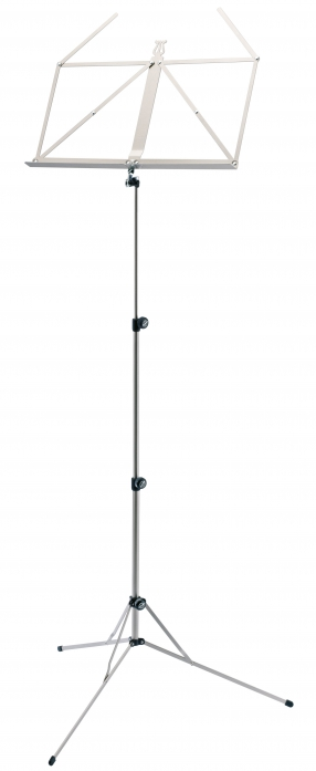 K&M 101 music stand, foldable, silver