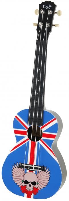 Korala PUC 30-003 concert ukulele, Union Jack With Skull