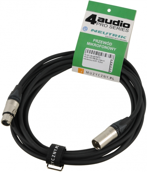 4Audio MIC2022 PRO 5m microphone cable XLR-F XLR-M with band, Neutrik