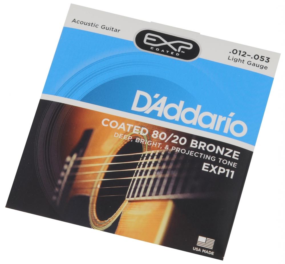 D′Addario EXP-11 acoustic guitar strings 12-53