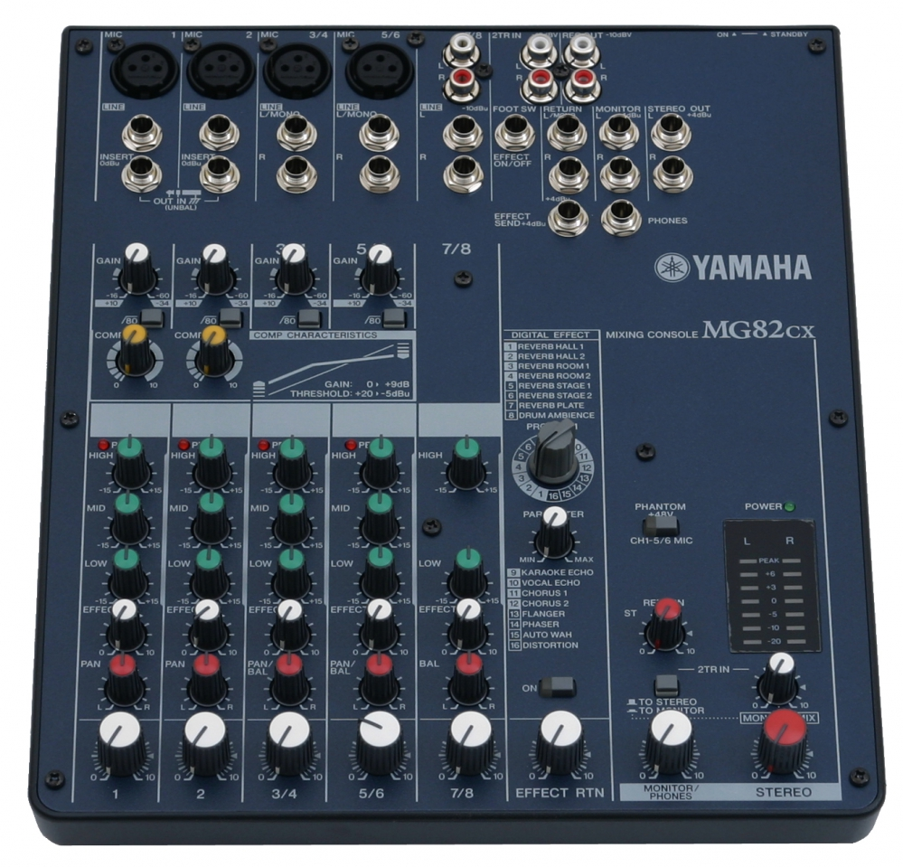 yamaha mg 82 cx digital effects mixer. Black Bedroom Furniture Sets. Home Design Ideas