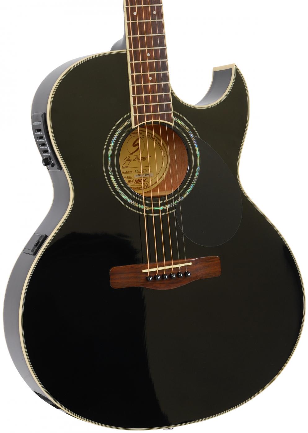samick tmj5ce bk acoustic guitar with eq. Black Bedroom Furniture Sets. Home Design Ideas