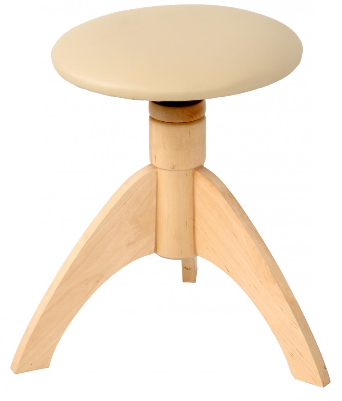 Akmuz Adjustable Piano Stool Round Natural