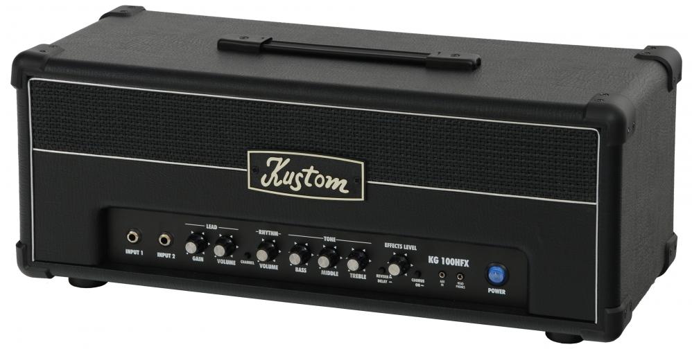 kustom kg 100 hfx 100w guitar amplifier head. Black Bedroom Furniture Sets. Home Design Ideas