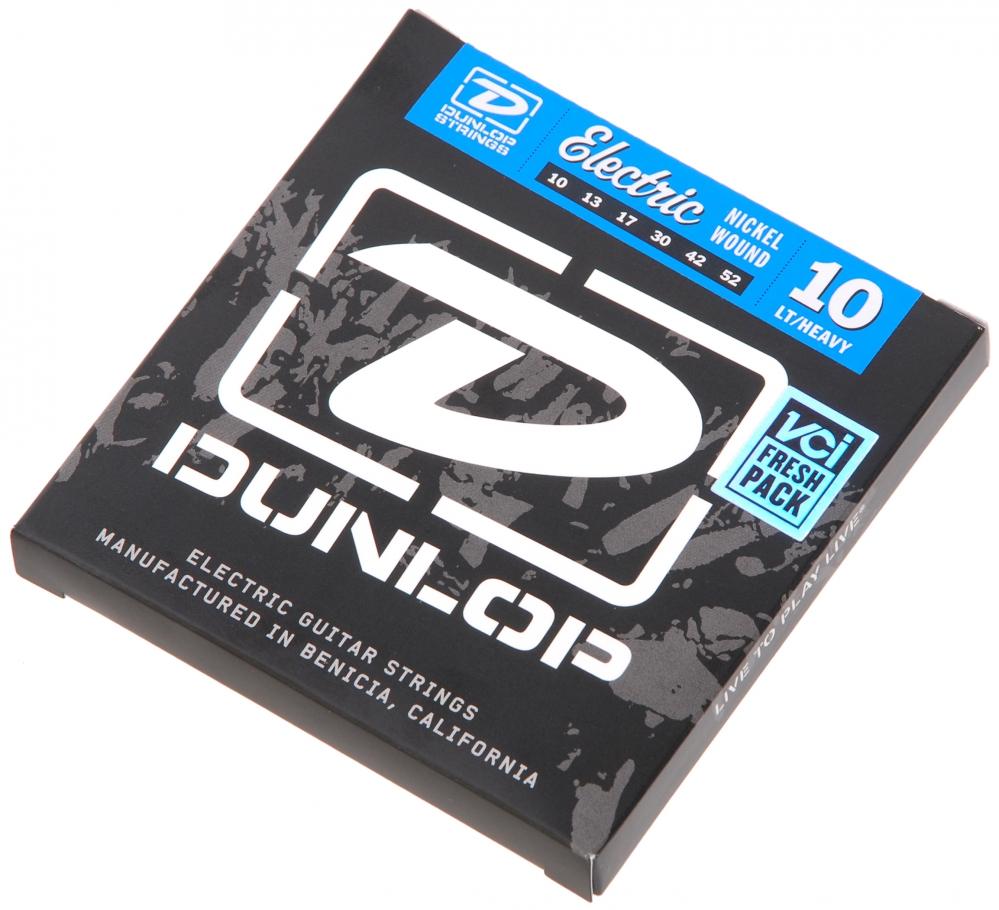 DEN1052 Комплект струн для электрогитары, никелированные, Light/Heavy, 10-52, Dunlop