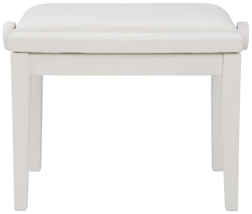 Akmuz Adjustable Piano Stool White Leather
