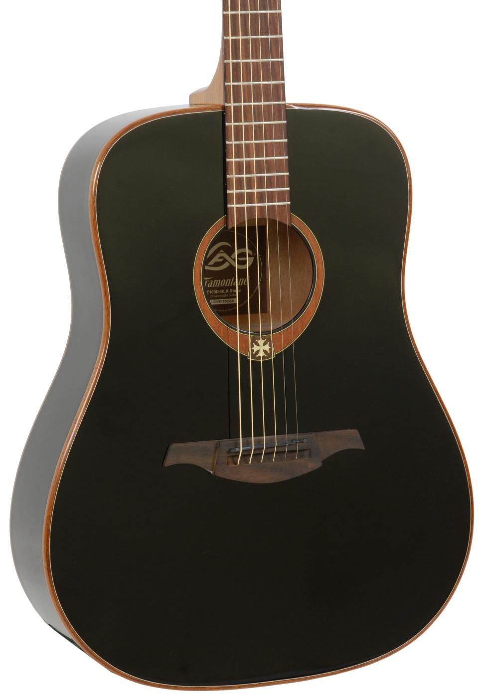lag gla t100d blk acoustic guitar. Black Bedroom Furniture Sets. Home Design Ideas