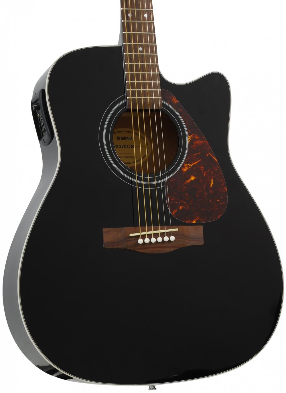 yamaha fx 370 c bl electric acoustic guitar black