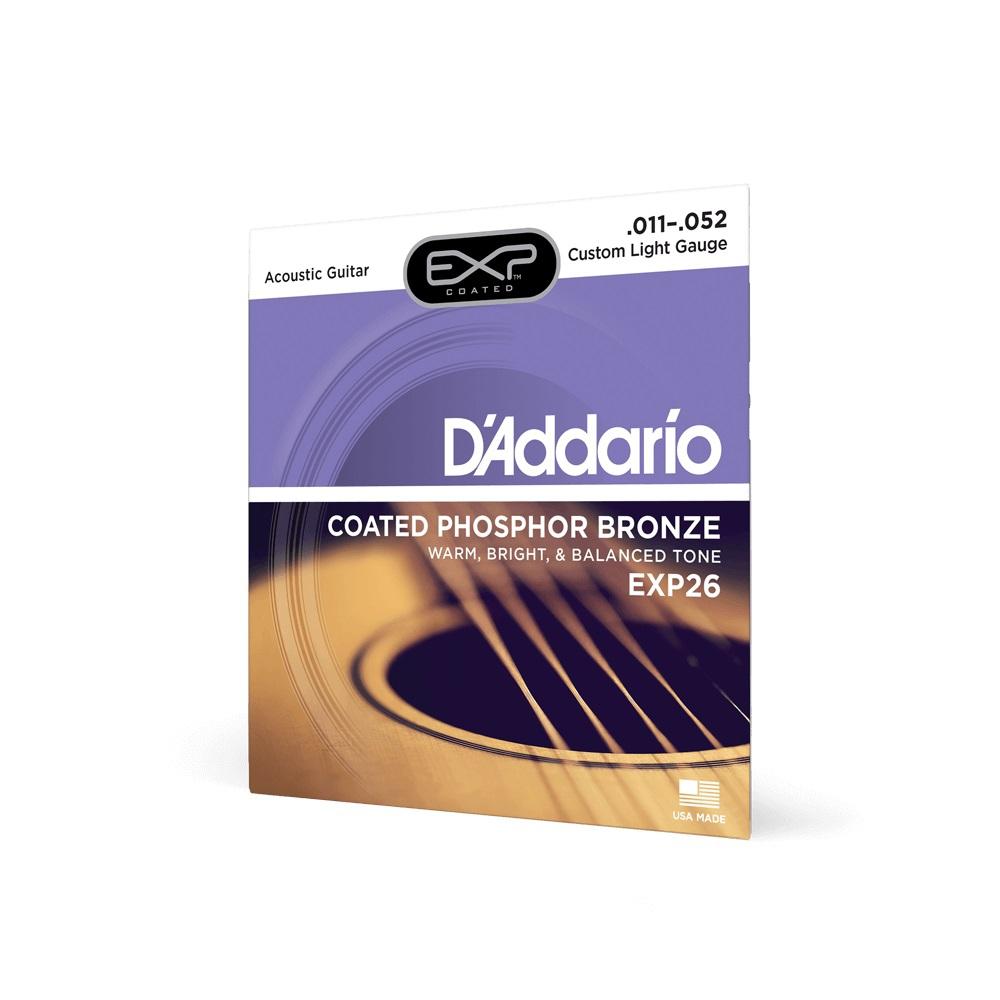 D′Addario EXP-26 acoustic guitar strings 11-52