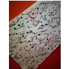 Zebra Music scarf with musical motive