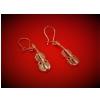 Zebra Music B066 Violin Earrings, silver