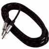 RockCable kabel instrumentalny - straight TS (6.3 mm / 1/4), braided cloth mantle, black - 6 m / 19.7 ft.