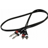 RockCable Patch Cable - 2 x RCA to 2 x TS (6.3 mm / 1/4) - 1 m / 3.3 ft.