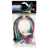 RockCable Patch Cable - angled TS (6.3 mm / 1/4), multi-color, 6 pcs. - 30 cm / 11 13/16