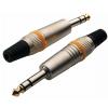 RockCable TRS Plug - 6.3 mm / 1/4, Metal Cap