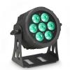 Cameo CLPFLATPRO7 - 7 x 10 W FLAT LED RGBWA PAR w czarnej obudowie