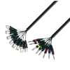 Adam Hall Cables K3 L8 MV 0300 - Kabel Multicore 8 x XLR męskie - 8 x jack stereo 6,3 mm, 3 m