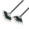 Adam Hall Cables K3 L8 MV 0500 - Kabel Multicore 8 x XLR męskie - 8 x jack stereo 6,3 mm, 5 m