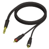 Adam Hall Cables REF 719 3 - Kabel audio jack stereo 6,3 mm - 2 x cinch męskie, 3 m