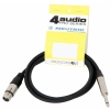 4Audio MIC2022 PRO 1,5m microphone cable asymmetric XLR-F TS with band,Neutrik