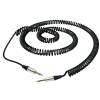 RockCable D6 Curly kabel instrumentalny - straight TS (6.3 mm / 1/4), silver - 6 m / 19,7 ft.