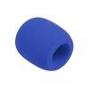 Monacor WS-5 microphone windscreen, blue