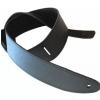 Akmuz PES-5 leather guitar strap, black