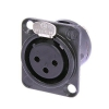 Neutrik NC3FD-L-1B female panel socket, black
