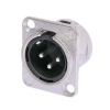 Neutrik NC3MD-L-1 male XLR panel socket