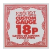 ErnieBall plain steel single guitar string ′18′